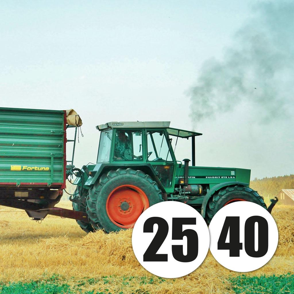 Edimag - Impression macarons limitation vitesse pour véhicule agricole
