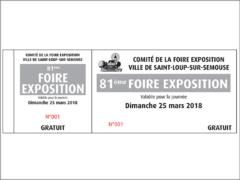 Billets d'entrée imprimés par Edimag Imprimeur Sérigraphe en Haute-Saône